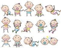 Speelse babys stock illustratie
