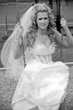 Speelse Bruid Stock Foto