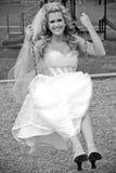 Speelse Bruid Stock Foto's