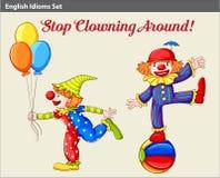 Speelse clowns Stock Afbeelding