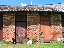 Speelse deur Stock Afbeelding