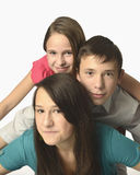 Speelse familie royalty-vrije stock fotografie