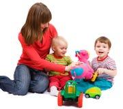 Speelse familie Stock Foto's