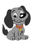 Speelse hond Stock Foto's