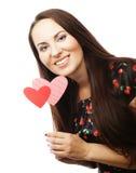 Speelse jonge vrouw klaar voor partij Royalty-vrije Stock Afbeeldingen