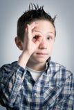 Speelse jongen Stock Foto