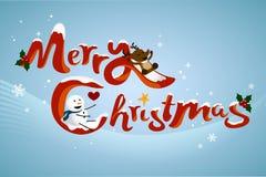 Speelse Kerstmistitel Royalty-vrije Stock Fotografie