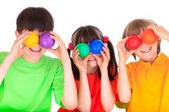 Speelse Kinderen Stock Foto's