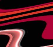 Speelse meetkunde in zwarte rode roze oranje tinten, abstracte achtergrond, fantasie stock illustratie
