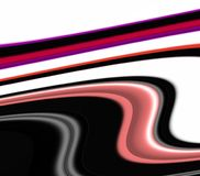 Speelse meetkunde in zwarte rode roze witte tinten, abstracte achtergrond, fantasie royalty-vrije illustratie