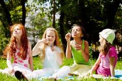 Speelse meisjes royalty-vrije stock afbeelding