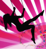 Speelse meisjesillustratie Stock Fotografie
