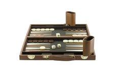 Speelspelenreeks - het Spelopstelling van de Backgammonraad royalty-vrije stock fotografie