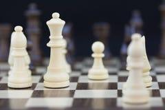 Speelspelenreeks: Schaak die zich op de Koningin concentreren royalty-vrije stock fotografie