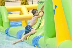 Speeltijd in Aqua Toy City, Turkije stock foto's