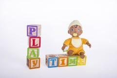 Speeltijdblokken Stock Foto's