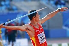 Speer Throw Spanien Jordanien stockfotos