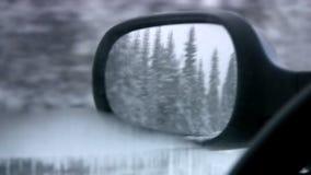 Spegel av en tillbaka sort lager videofilmer
