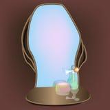 spegel Bild med lutningingreppet Arkivfoto
