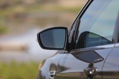 Spegel för bakre sikt av en bil Arkivbild