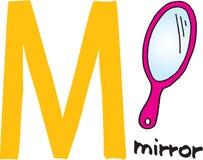spegel för bokstav M stock illustrationer
