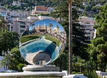Spegel i Monte - carlo Royaltyfria Bilder