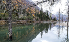 Spegel lake Arkivfoto