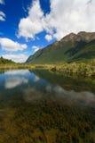 Spegel lake, Milford Sound Royaltyfri Foto