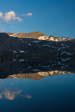 Spegel sjö och berg royaltyfri bild