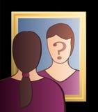 Spegel som är mig kvinnan Royaltyfri Foto