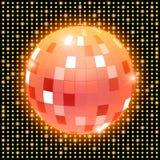 Spegeldiskoboll på glänsande retro bakgrund Royaltyfria Foton