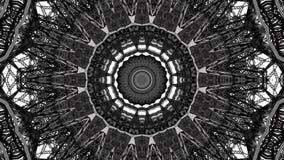 Spegeleffekt av metallstrukturer royaltyfri illustrationer