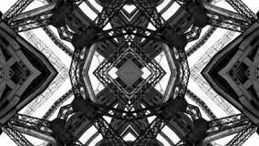 Spegeleffekt av metallstrukturer stock illustrationer