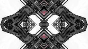 Spegeleffekt av metallstrukturer royaltyfria bilder