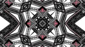 Spegeleffekt av metallstrukturer fotografering för bildbyråer