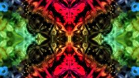 Spegeleffekt på kulör kristall stock illustrationer