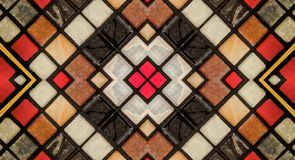 Spegeleffekt på små tegelplattor royaltyfri illustrationer