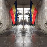 Spegelförsedd flagga Arkivfoton