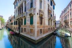 Spegelförsedd slott i Venedig Royaltyfria Foton