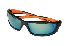 Spegelförsedd svart solglasögon Arkivbild