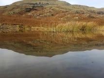 Spegelförsett berg Arkivfoto