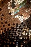 Spegelmosaiktextur Klubbans diskobollen dekorativt element royaltyfri bild