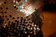 Spegelmosaiktextur Klubbans diskobollen dekorativt element arkivbilder