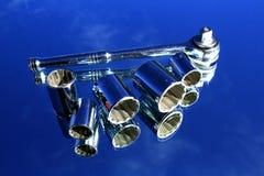 spegelstickkontaktskiftnyckel Fotografering för Bildbyråer