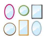 speglar ställde in Arkivfoton