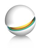 Speherical design element Royalty Free Stock Image