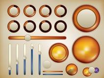 Spehrical infographic Elemente Lizenzfreie Stockfotografie