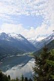 Speicher Durlassboden från det Gerlos passerandet, Österrike Royaltyfria Bilder