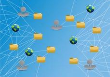 Speicher-Netzwerk-Link-Diagramm der Leute globales Lizenzfreie Stockfotografie