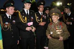 Speicher-Uhr Tätigkeit der Jugend patriotische Lizenzfreies Stockbild